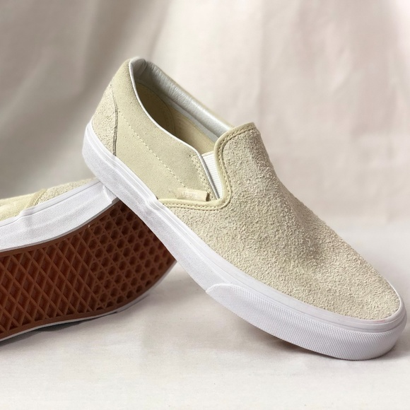 8fb4a20b41 Vans Classic Slip On White Hairy Suede Turtle Dove